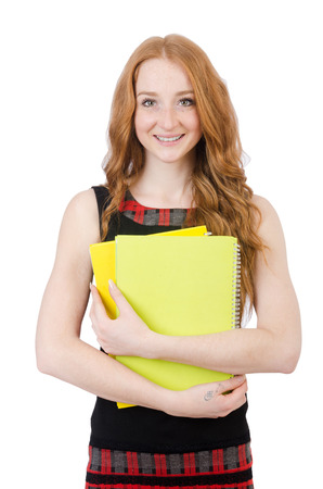Young student isolated on the white background Stock Photo