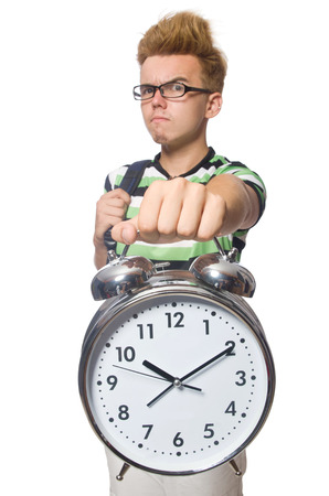 Student being late with his deadlines Stock Photo