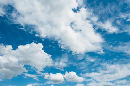 stratus: Cloudscape of bright blue sky Stock Photo
