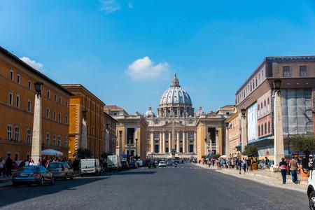 tourist destinations: Rome - MARCH 21: St. Peter Cathedral on March 21 in Rome, Italy. St. Peter Cathedral is a popular tourist destinations