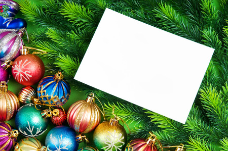 Festive concept with paper with copyspace photo