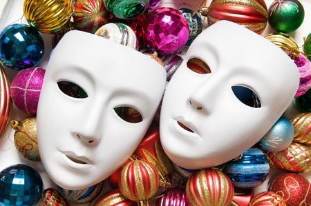 theatre masks: Theatre concept with the white plastic masks