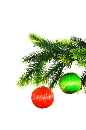 Christmas decoration isolated on the white photo