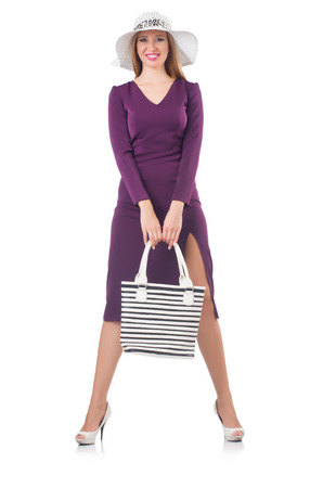 Woman with bag in fashion concept photo