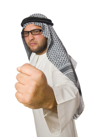 suriyah: Concept with arab man isolated on white