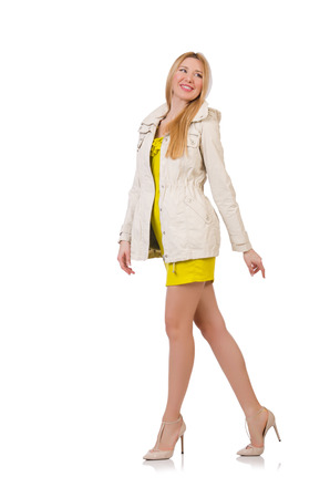 frock coat: Woman in fashion clothing concept