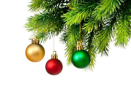 Christmas decoration isolated on the white Stock Photo