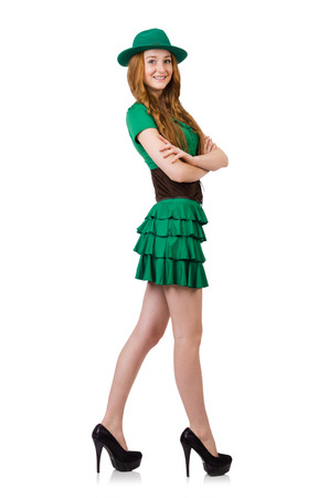 female leprechaun: Woman in fashion clothing concept