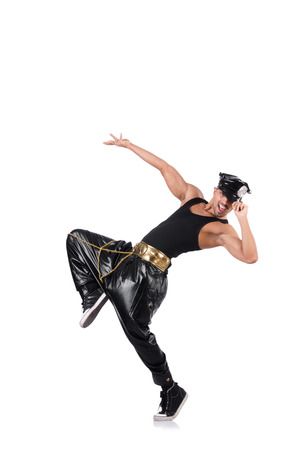 Man dancer isolated on the white background photo