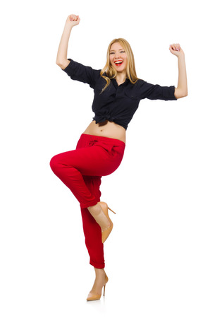 merry dancers: Woman in fashion clothing concept