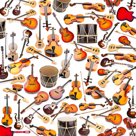 celllos: Background made of many musical instruments