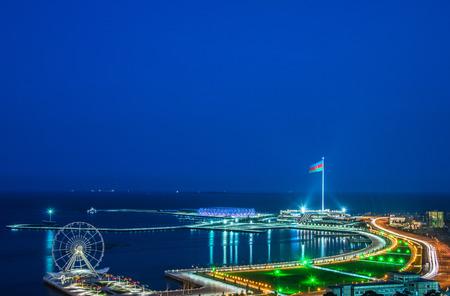 baku: View of Baku at night