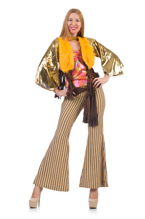 bell bottoms: Young woman in fashion concept