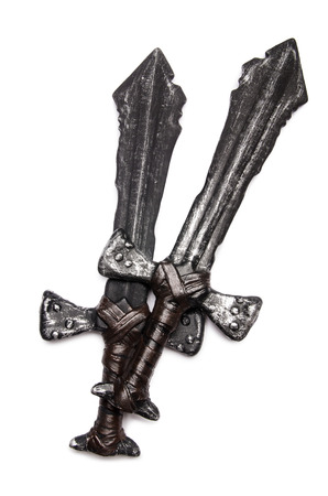 longsword: Medieaval swords isolated on the white