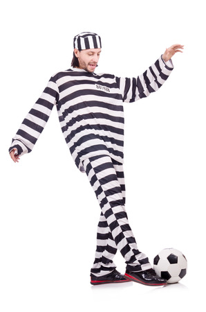 inmate: Prison inmate isolated on the white background