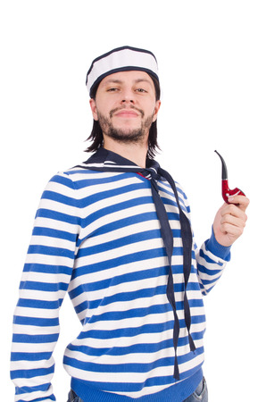 Funny sailor isolated on the white photo