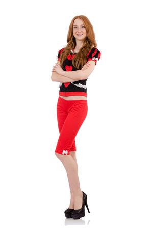 capri pants: Woman in fashion clothing concept