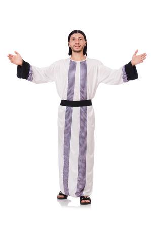 sotana: Concepto con el hombre �rabe aislado en blanco