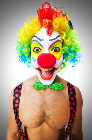 entertainers: Funny clown isolated on white