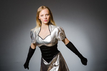 Tech woman in futuristic concept photo