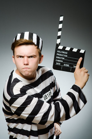 inmate: Prison inmate in funny concept