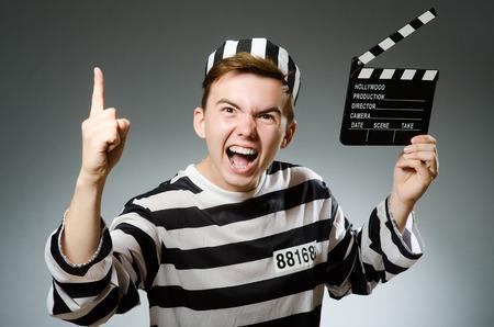 lawbreaker: Prison inmate in funny concept