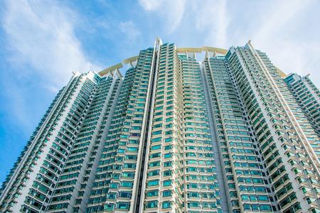 cramped: Hign density residential building in Hong Kong