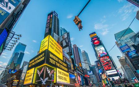 tourist spot: New York - DECEMBER 22, 2013: Times Square on December 22 in USA, New York. Times Square is the most popular tourist spot in New York Editorial