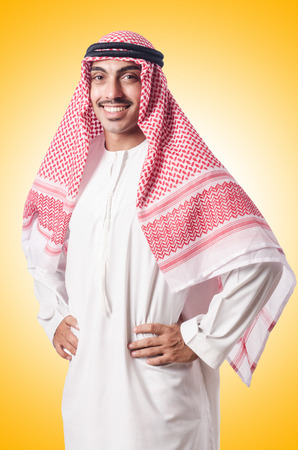 kameez: Diversity concept with arab on white
