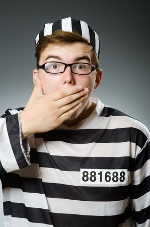 an inmate: Prison inmate in funny concept