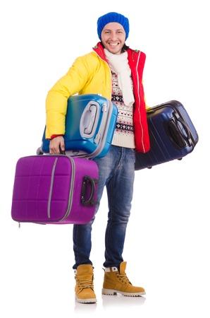 Man preparing for winter vacation photo