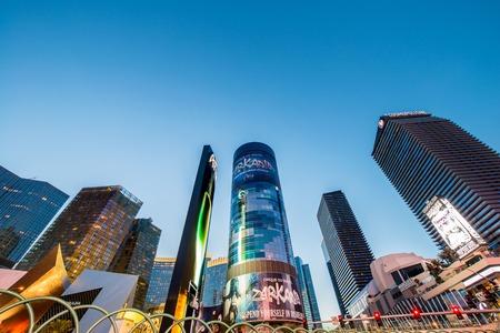 december 21: LAS VEGAS - DECEMBER 21: Famous Las Vegas casinos on December 21, 2013 in Las Vegas. Las Vegas is the gambling capital of US