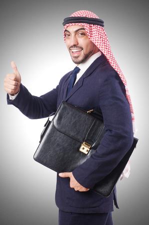 bohra: Arab businessman isolated on white