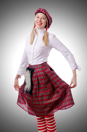 traditions: Scottish traditions concept with person wearing kilt