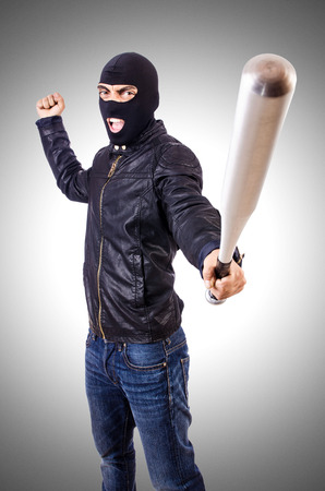 thug: Male thug isolated on the white Stock Photo