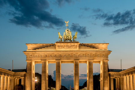 Brandenburg Gate on August 4 in Germany, Berlin. Brandenburg Gate is a popular tourist attraction in Berlin photo