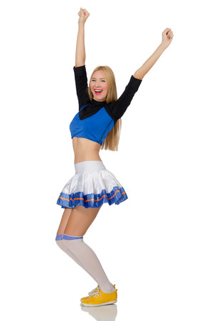 merry dancers: Cheerleader isolated on the white background