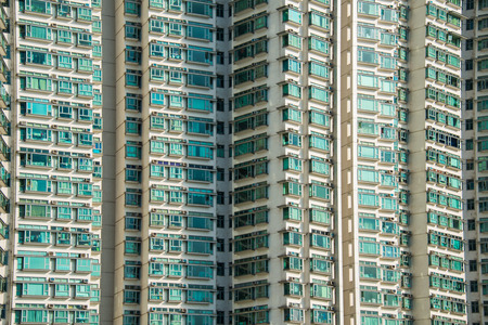 Hign density residential building in Hong Kong photo