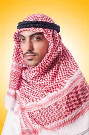 kandura: Diversity concept with arab on white