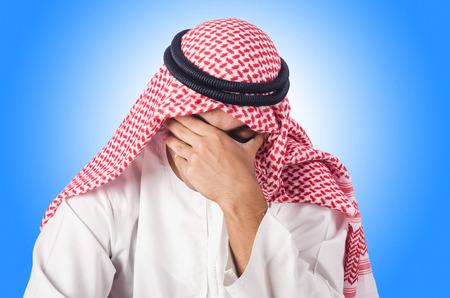 hombre arabe: Diversidad concepto con el árabe en blanco