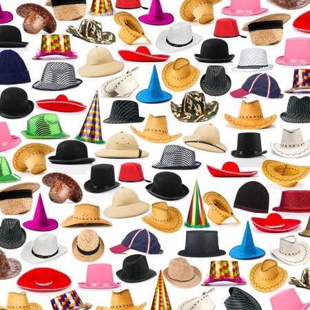 headwear: Many hats