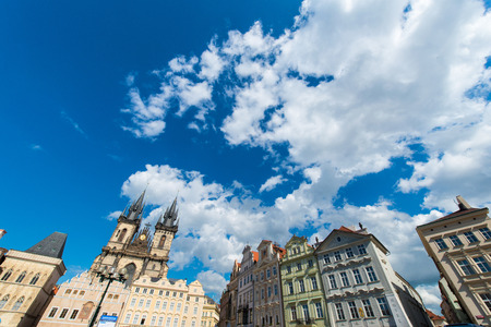 View of Prague on bright summer day photo