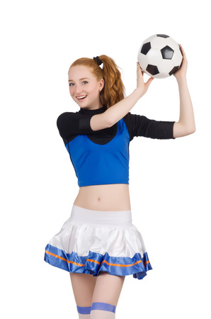 Cheerleader isolated on the white background photo