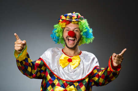 clown: Funny clown in colourful costume