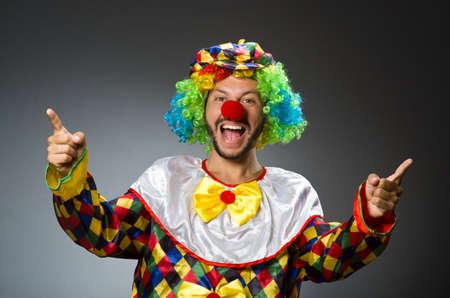 payaso: Payaso divertido en traje colorido