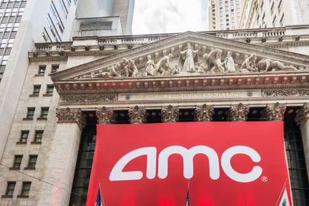 new ipo: New York - DECEMBER 18, 2013: AMC IPO on New York Stock Exchange on December 18 in USA, New York. AMC is theater chain