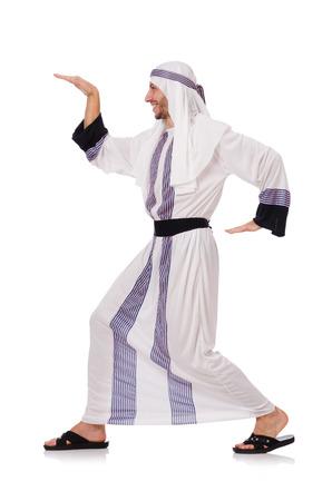 bailarinas arabes: Concepto con el hombre árabe aislado en blanco
