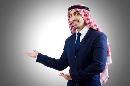 thoub: Arab businessman isolated on white