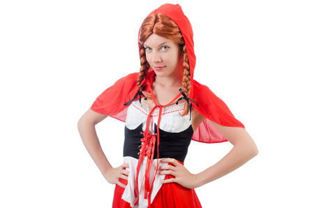 stagy: Little red riding hood isolated on white