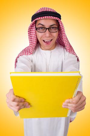 suriyah: Arab student isolated on white
